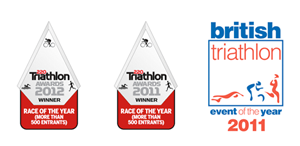 Awards for the Outlaw Triathlon